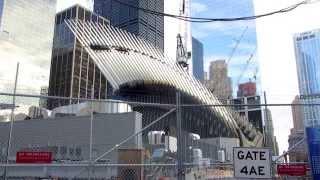 World Trade Center, NYC, September 2014: PATH station construction