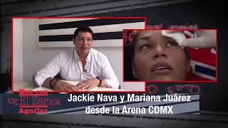 """Jackie Nava y Mariana """"La Barbie"""" Juárez desde la Arena CDMx"""