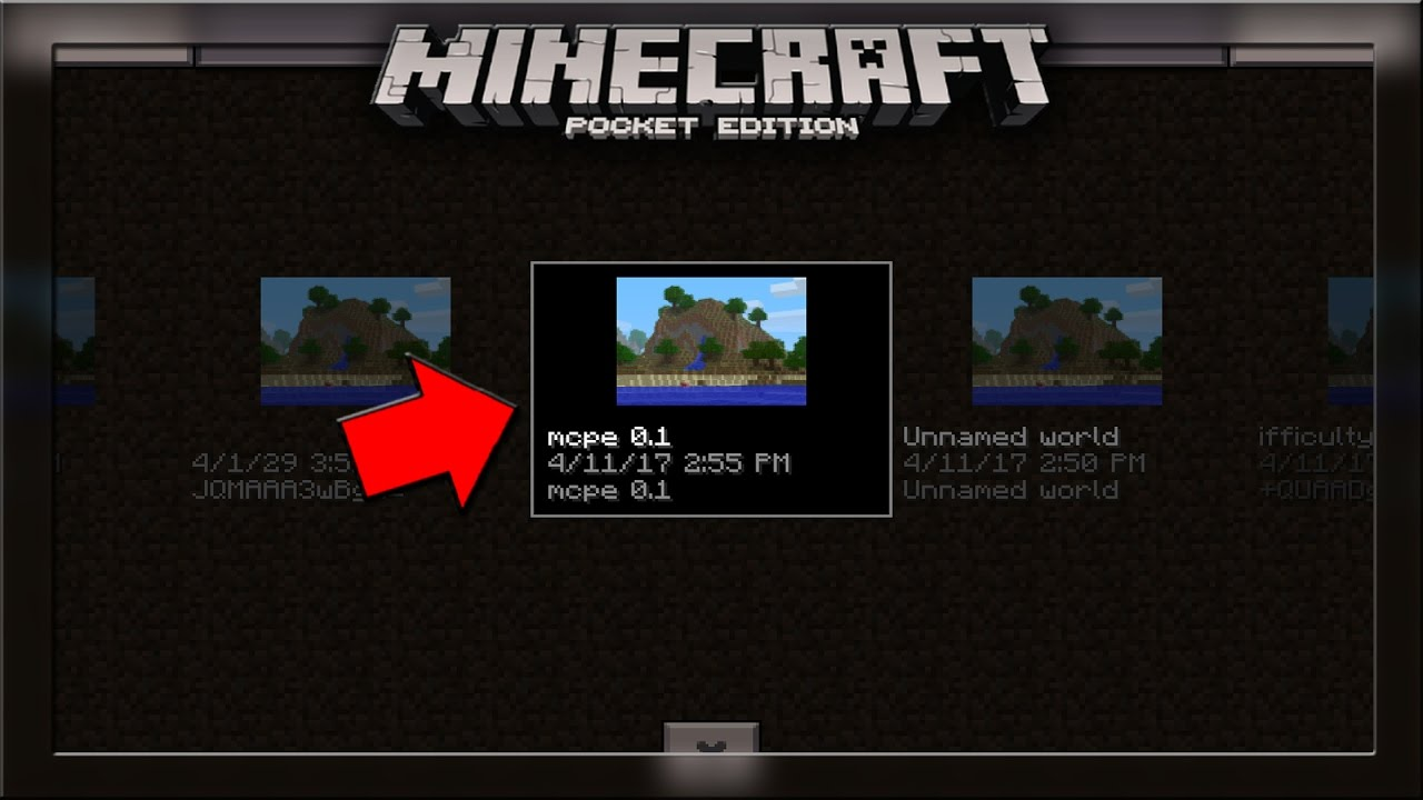 the first version of minecraft pe