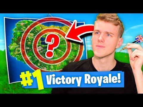 The LUCKY DARTBOARD Challenge! (Fortnite Battle Royale)