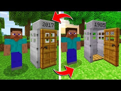 WORKING TIME MACHINE IN MINECRAFT! (100% REAL TIME TRAVEL)