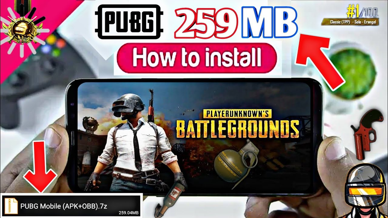 259 MB] PUBG Mobile Super Compressed (APK+OBB) For Android 2019