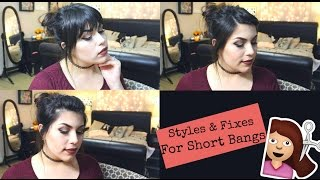Simple Styles/ Fixes For Short Bangs.