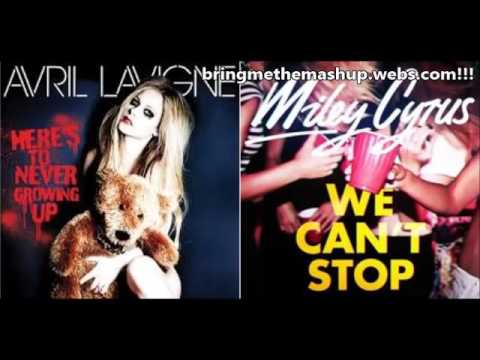 Miley Cyrus vs. Avril Lavigne - We Can't Stop Growing Up (Mashup)