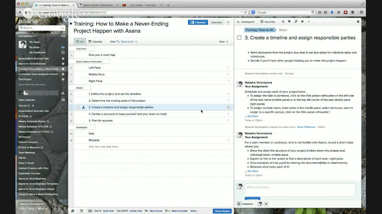 How to make a never ending project happen with asana youtube solutioingenieria Gallery