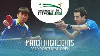 Yu Heyi vs Mihai Bobocica   2019 ITTF Challenge Plus Portugal Open Highlights ( R64 )