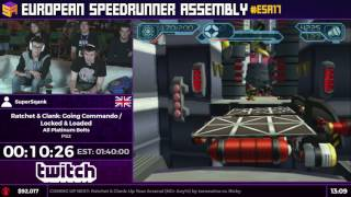#ESA17 Speedruns - Ratchet & Clank: Going Commando / Locked & Loaded [All Platinum Bolts] by SuperSq
