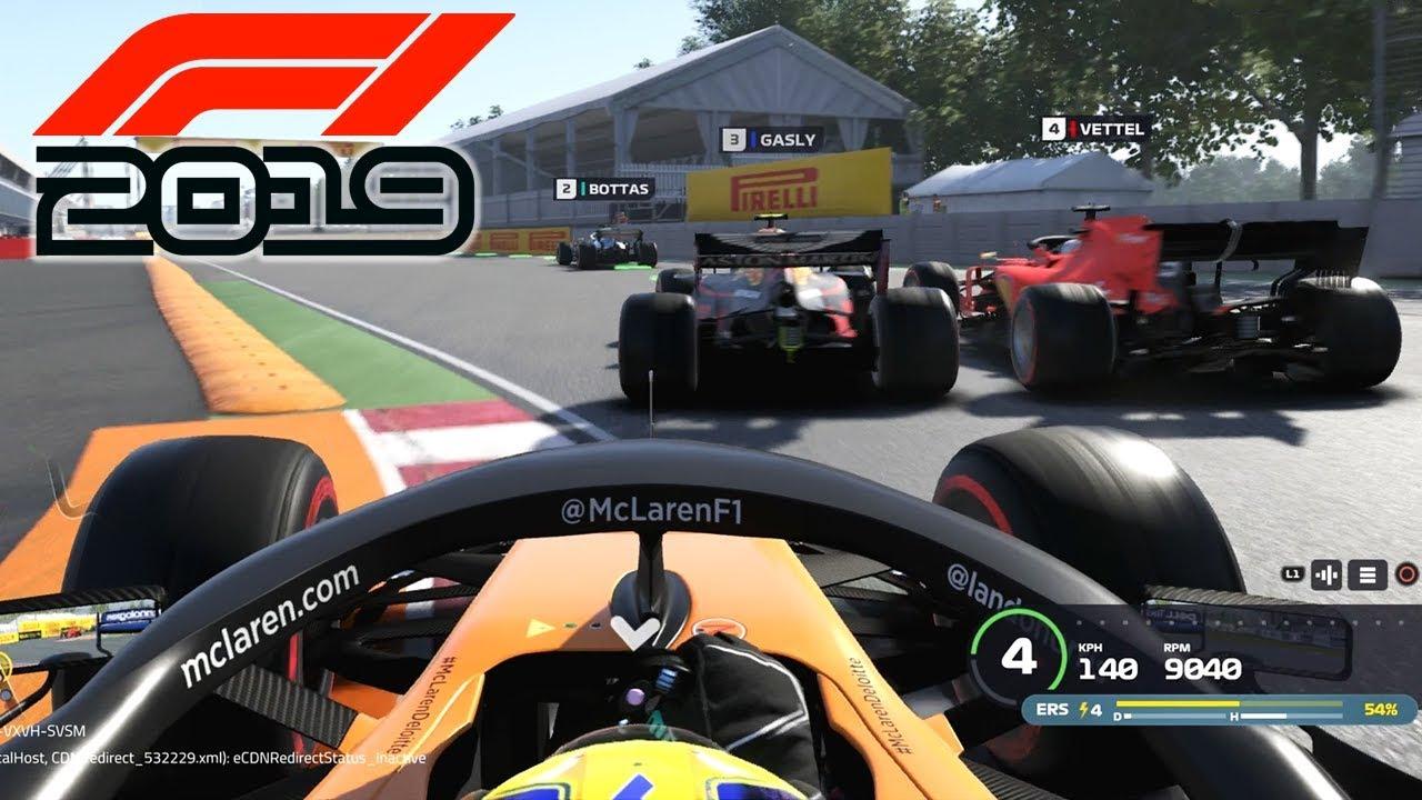 F1 2019 Exclusive Gameplay Race In Canada With Lando Norris F1 2019 Game Mclaren Youtube