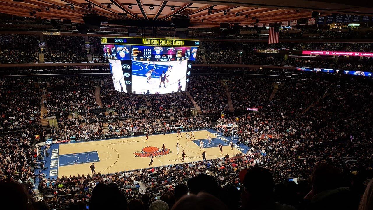 Match NBA au Madison Square Garden à New York
