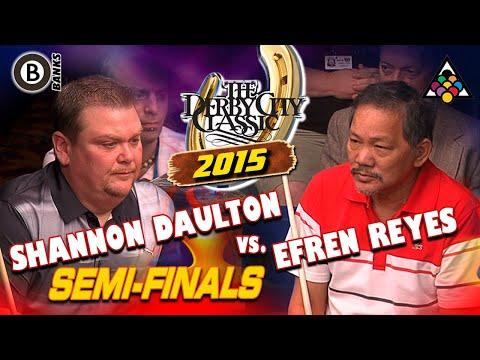 BANKS: Shannon DAULTON vs Efren REYES - 2015 DERBY CITY CLASSIC BANK POOL