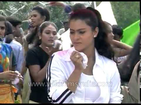 Actress Kajol, Ganesh shoot a Bollywood dance sequnce