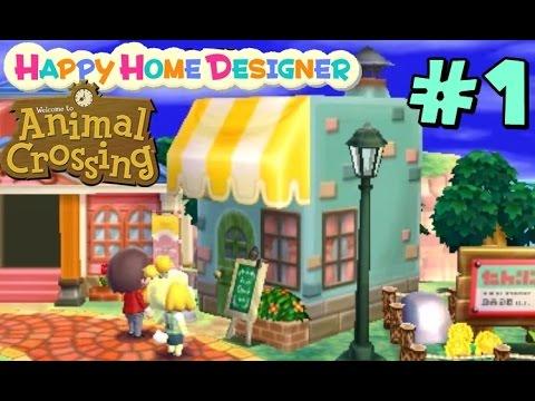 Animal Crossing Happy Home Designer 1 Cafeter A Gameplay Comentado En Espa Ol Youtube