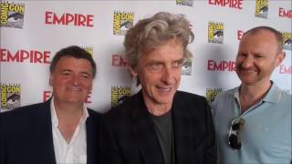 Doctor Who - Interview with Peter Capaldi, Steven Moffat & Mark Gatiss at Comic-Con
