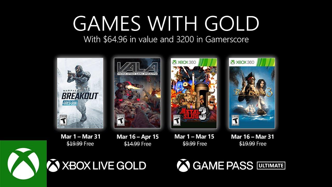 Games With Gold: giochi GRATIS di Marzo 2021 su Xbox