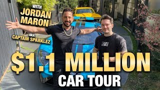 $1.1 MILLION CAR TOUR W/ JORDAN MARON AKA CAPTAIN SPARKLEZ | JOSH ALTMAN | REAL ESTATE | EPISODE #43