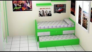 como hacer una cama  para habitacion juvenil