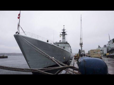 Warship takes final tour of Halifax harbour