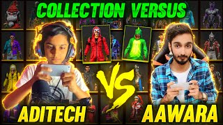 Aditech Vs AAWARA Bundles Collection Versus 🤣 Richest Collection Of Free Fire Player || Free Fire