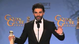 Oscar Isaac: Golden Globe Awards Backstage Interview (2016)