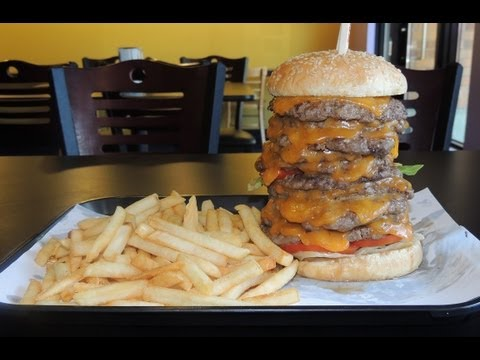 10 STACK BURGER CHALLENGE IN SEATTLE!!