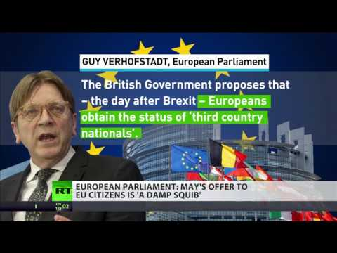Verhofstadt calls May's proposal to EU citizens 'damp squib'