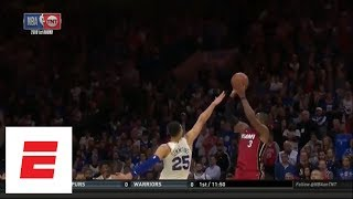 Dwyane Wade's 28-point game vs. 76ers: Dagger J over Ben Simmons, fast-break dunk and more | ESPN