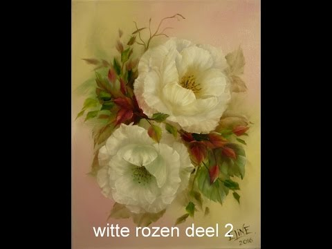 witte rozen Deel 2, olieverf, Jenkins techniek