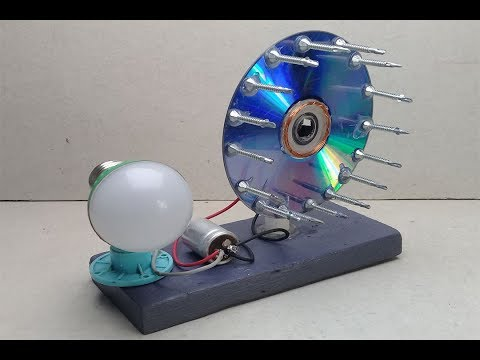 free energy light bulbs generator with magnets _ new  project / 2019, at home