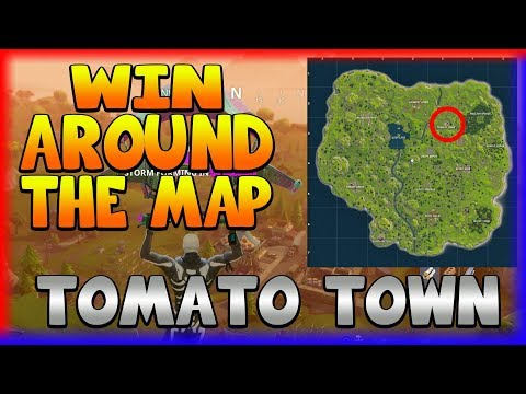 WIN AROUND THE MAP 'TOMATO TOWN' (Fortnite Battle Royale)