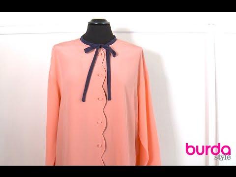 burda style – Bogenkante nähen
