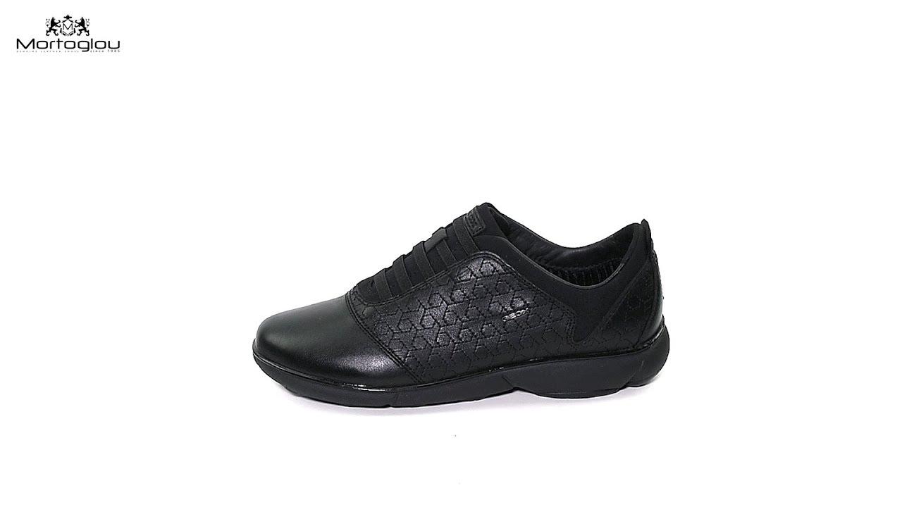 43c0080cf83 Γυναικεία Παπούτσια Casual Geox D621EC Black Leather - YouTube