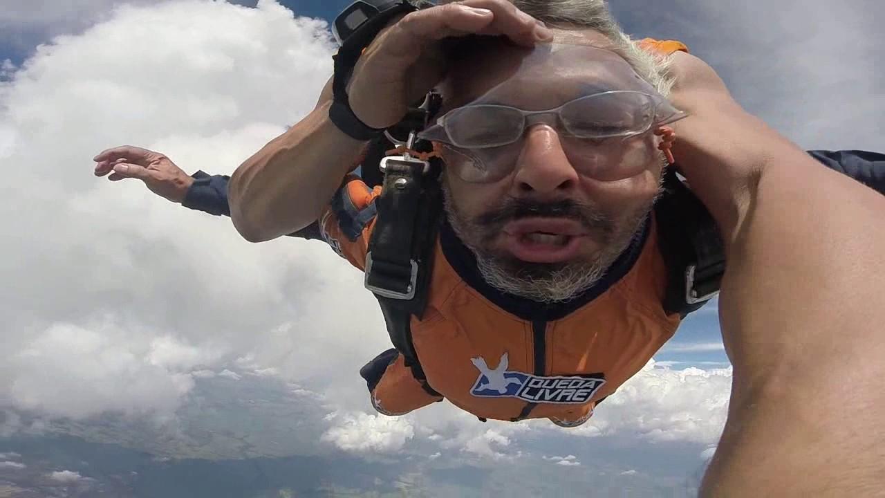 Salto de Paraquedas do Ricardo na Queda Livre Paraquedismo 28 01 2017