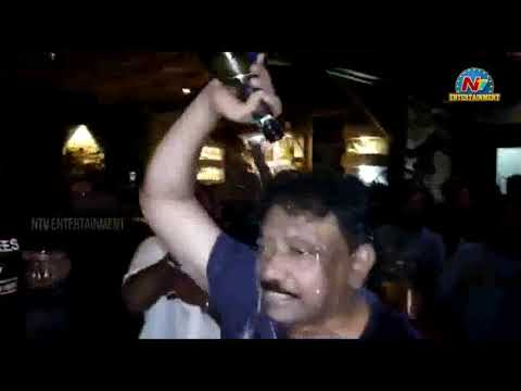 Ram Gopal Varma Hungama In Ismart Shankar Success Party   Puri Jagannadh   Charmy Kaur   NTV Ent