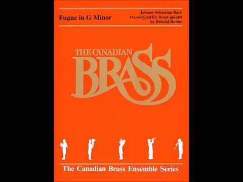 Fugue in G Minor (Little) Brass Quintet Score from Canadian Brass Publications