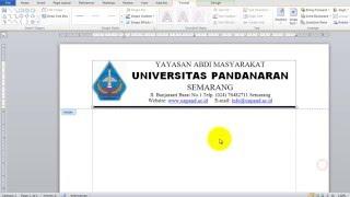 Cara Membuat Kop Surat Dalam Microsoft Word ( letterhead )