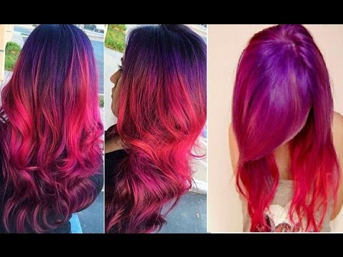 red purple ombre hair color youtube. Black Bedroom Furniture Sets. Home Design Ideas