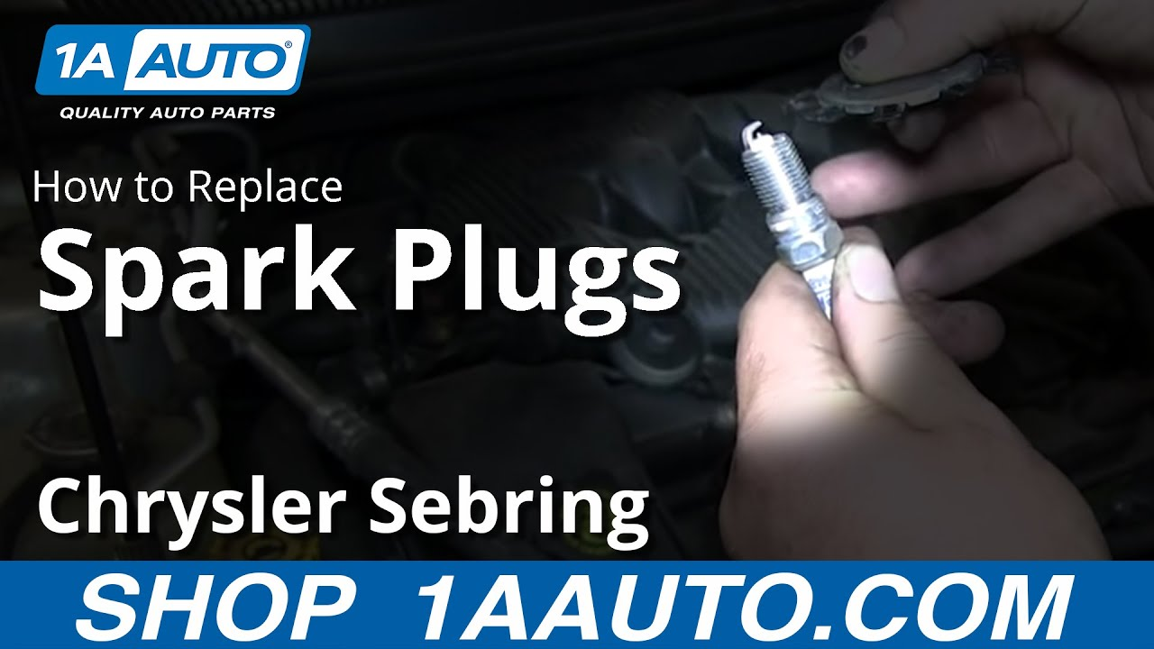 How To Install Change Replace Spark Plugs 2001 06 Chrysler Sebring 2 7l Youtube
