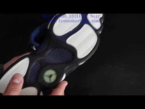 Air Jordan 13 (XIII) Original (OG) Low - Navy / Silver Metallic - Noir - Bleu Carolina