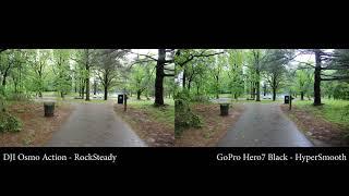DJI Osmo Action vs. GoPro Hero7 Black : 4K 60fps Stabilization Comparison