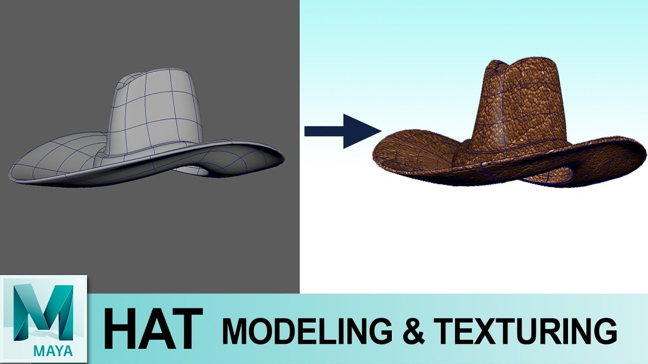 eb77156a164f2 Hat Modeling & Texturing in Autodesk Maya 2017   3D for Beginners Series