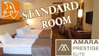 Amara Prestige 5* Обзор номера. Standard Double Room. Overview.