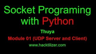 Module 02  UDP Server And Client Communication (Socket Programming With Python)