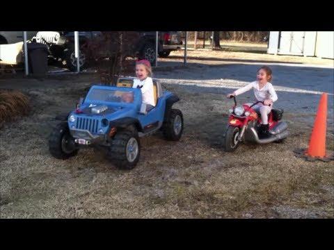 Ultimate Modified Power Wheels Race - 18 Volt Jeep Hurricane Vs. 18
