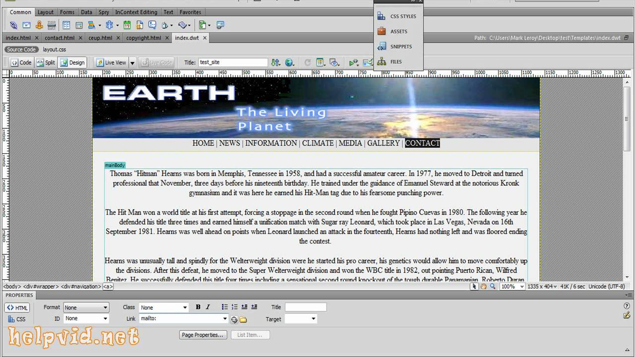 How to Create an email mailto link in Adobe Dreamweaver