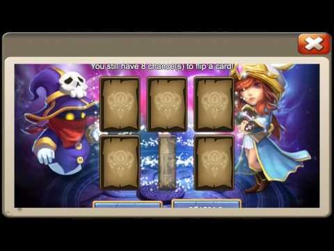 Rolling 24k Gems For Ghoulem Skull Knight Lady Leo Castle Clash
