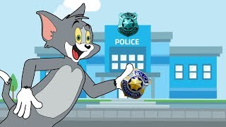Tom and Jerry Cartoon Series Episode 5 | Funny Animated Cartoon Videos | Tom Becomes a Cop
