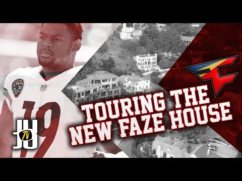 JuJu Smith-Schuster Tours FaZe Hollywood Mansion!