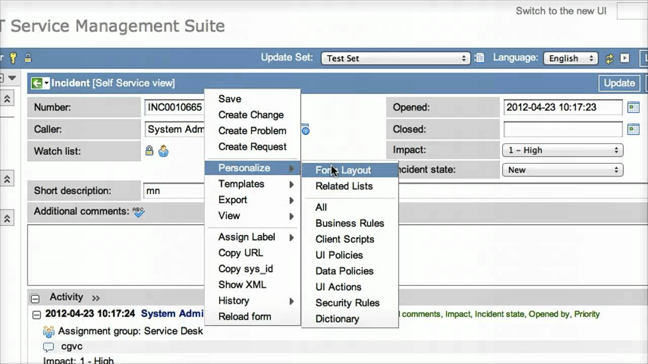 ServiceNow - demo of g_form.flash - YouTube