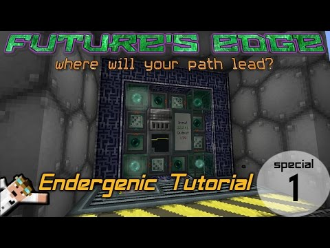 RFtools Auto Endergenic Generator Tutorial with a Compact Wall Design in Future's Edge Modpack