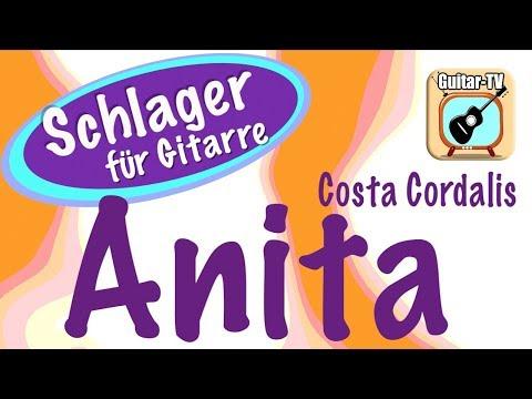ANITA - Costa Cordalis, Cover • Lyrics • Chords • Tutorial • Gitarre lernen